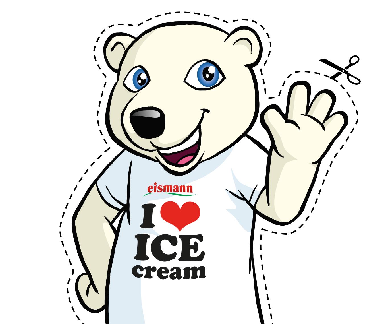 Eisbär Eisi zum Ausschneiden